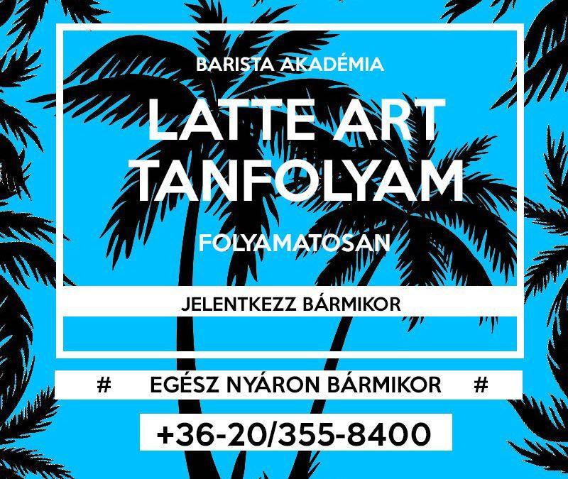 Latte Art tanfolyam – folyamatos jelentkezés