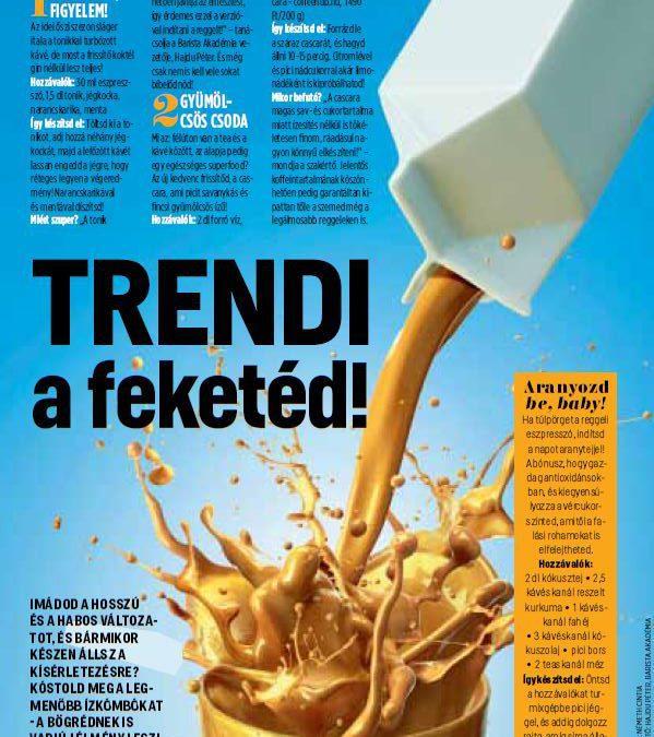 A fekete az új trend! – a Barista Akadémia által ajánlott receptek a Cosmopolitan divatmagazin oldalán