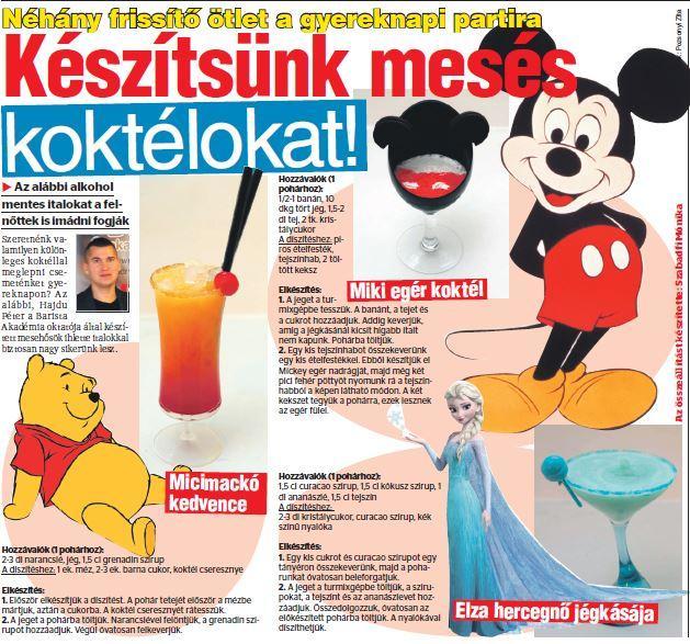 Blikk – Gyereknapi partira is frissítő koktél
